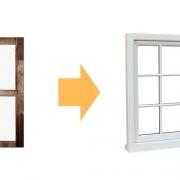 Αντικατάσταση ξύλινων κουφωμάτων με αλουμινίου