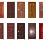 Θωρακισμένες πόρτες με επένδυση ξύλου