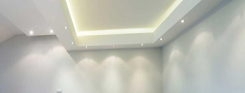 Κατασκευή κρυφού φωτισμού με γυψοσανίδα